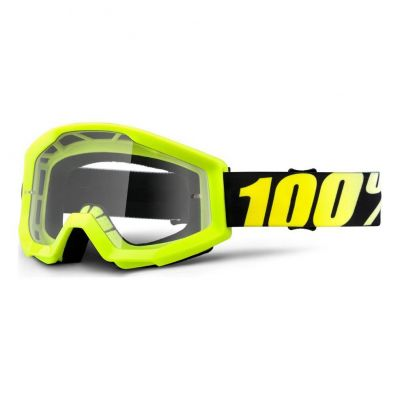 Masque 100% Strata Neon Yellow/Clear