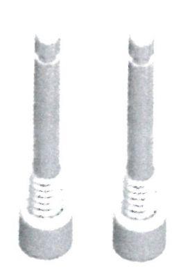Boulon de sécurité XLC BP-X06 M4x27 mm comp. Shimano XT/XTR, Magura MT, Tektro (Paire)