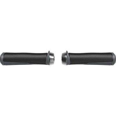 Poignées BBB Cobra lock-on 142 mm Noir/Gris - BHG-96