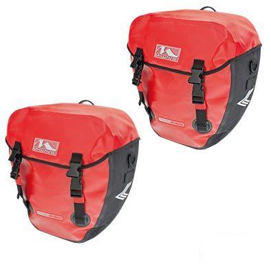 Sacoche vélo M-Wave Canada étanche Porte-bagages AR 40 L Rouge
