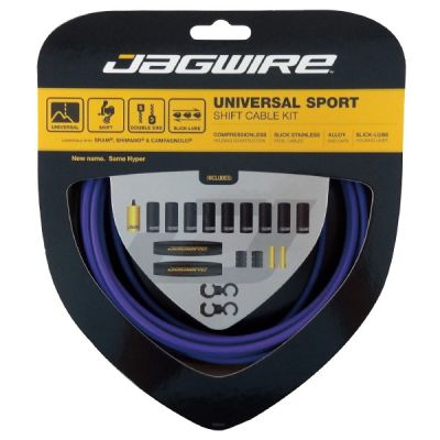 Kit câble et gaine de dérailleur Jagwire Universal Sport - Violet UCK218