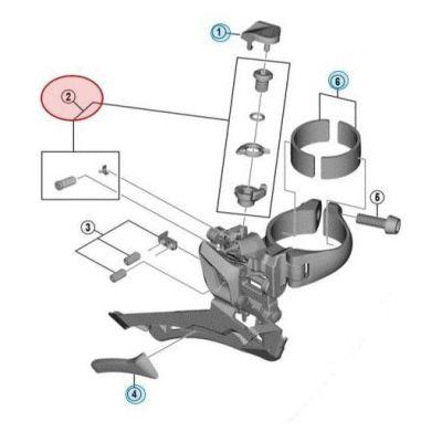 Visserie Fixation Câble Shimano FD-R8000