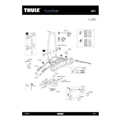 Bras de fixation 2ème vélo Thule 941,943 - 51215