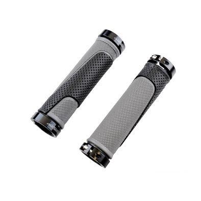 Poignées ProGrip 997 Lock-on double avec anneau 130 mm Noir/Gris