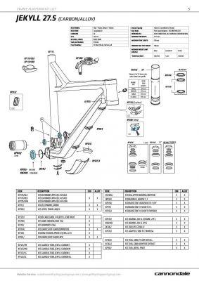 """Jeu de direction intégré Cannondale 1.1/8"""" KP058/"""