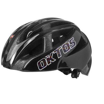 Casque vélo adulte Oktos City Map double inmold noir M