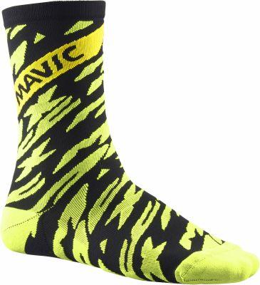 Chaussettes Mavic Deemax Pro High Sock Jaune fluo/Noir
