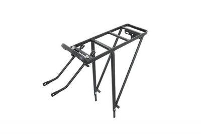 """Porte-bagages Massi CM12 réglable 24 à 29"""" aluminium Noir"""