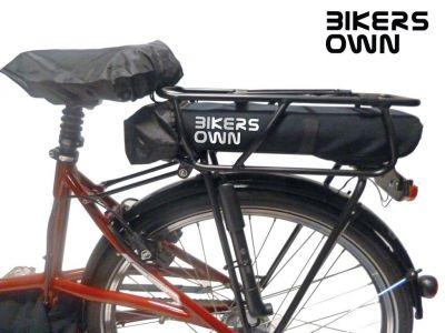 Protection batterie BikersOwn Case4rain Bosch Powerpack 300/400/500 (sur porte-bagage)