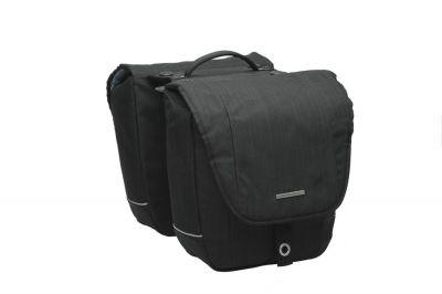 Sacoche double New Looxs Avero Détachable sur porte-bagages comp. Racktime 25 L Noir