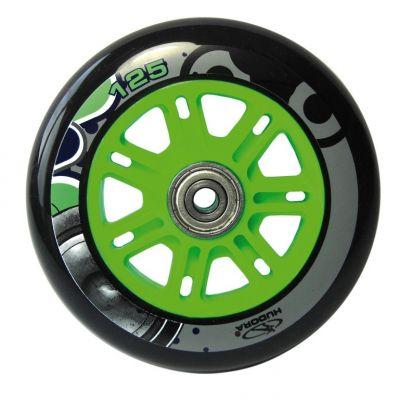 Roue trottinette Hudora Big Wheel 125 mm Vert/Bleu (l'unité)