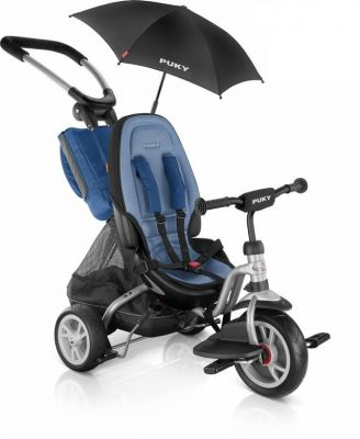 Tricycle 2x1 PUKY CAT S6 Ceety + Parasol 1 an 1/2 Argent