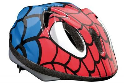 Casque enfant MASSI Spiderman Rouge/Bleu