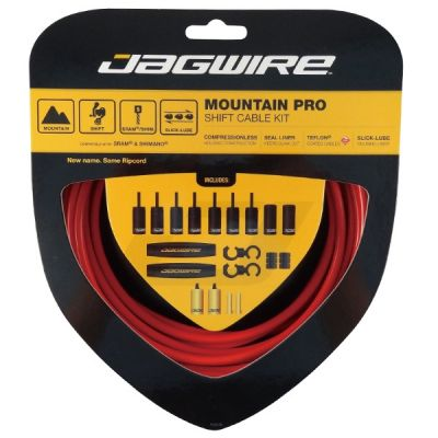 Kit complet câbles et gaines dérailleur Jagwire Mountain Pro - Rouge MCK215