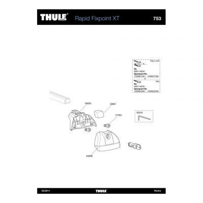 Cache de barre de toit Thule 753 - 50090