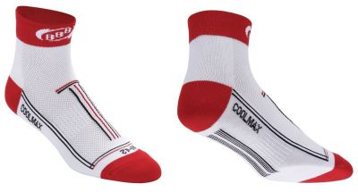 Chaussettes BBB TechnoFeet Coolmax (blanc/rouge) - BSO-01