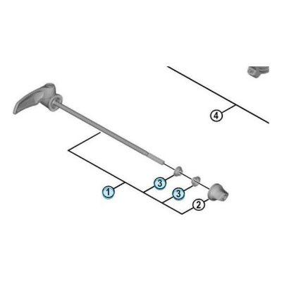 Blocage Rapide Arrière Shimano Dura-Ace R9100 163mm