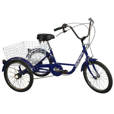 Tricycle adulte Gomier TR-2003 20 pouces 5 vitesses Bleu