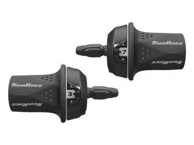 Poignée tournante SunRace TSM21 8 vitesses Droite Noir/Gris