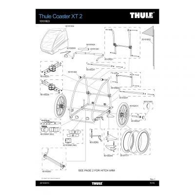 Pièce de rechange Thule Coaster XT - 40105264