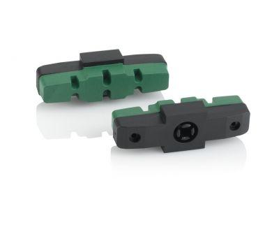 Patins de frein XLC BS-X42 pour freins Magura HS (25 paires) Vert