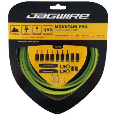 Kit complet câbles et gaines dérailleur Jagwire Mountain Pro - Vert MCK209