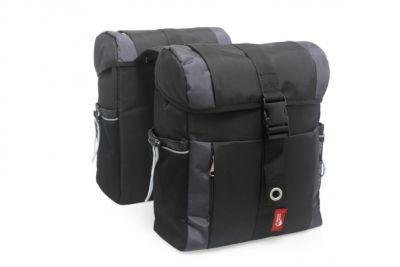 Sacoche double New Looxs Vigo À pont sur porte-bagages 36 L Noir/Gris