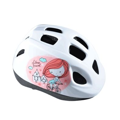 Casque Enfant Baby Polisport Princess Rose/Blanc