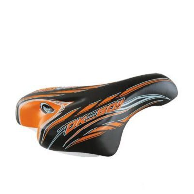 Selle Enfant Monte Grappa 996 OK Go Kid 16/20 pouces Sans rails Noir/Orange
