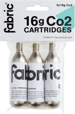 Cartouches CO2 Fabric filetée 16 g (Pack de 3)