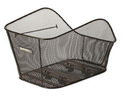 Panier AR Acier Nid d'abeille BASIL Icon Large Fixation système WSL Porte-bagages Noir
