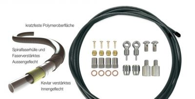 Durite p.frein hydraulique XLC BR-X64 2500 mm Noir