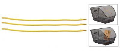 Cordon élastique BASIL Keep In Place pour panier maille Jaune fluo (Jeu de 3)