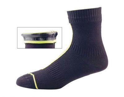 Chaussettes imperméables SealSkinz Ankle Noir/Jaune fluo