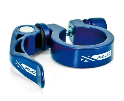 Collier tige de selle XLC PC-L04 Alu 31,6 mm serrage rapide Bleu