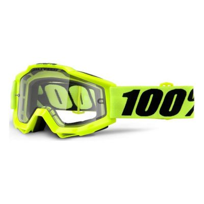 Masque 100% Accuri Enduro Fluo Yellow/Clear Vented