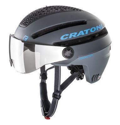 Casque Cratoni Commuter Hom. VAE 45 km/h Gris mat/Bleu