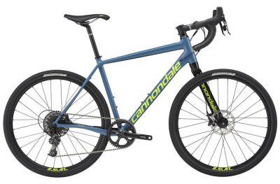 Vélo gravel cannondale Apex 1 2017 Bleu/Jaune fluo