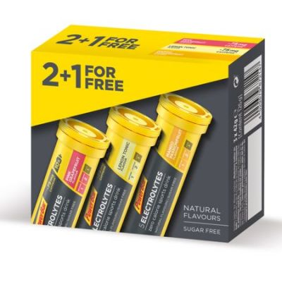 Electrolytes Powerbar Pack trois saveurs Mangue/Raisin/Citron