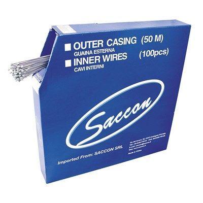 Câble de dérailleur Saccon acier inox 1.1x2250 mm (Boîte de 100)