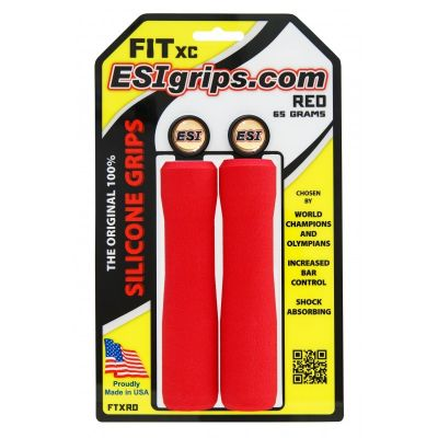 Poignées ESI Grips FIT XC silicone Rouge