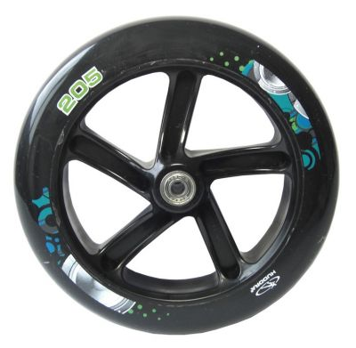 Roue trottinette Hudora Big Wheel 205 mm Noir/Vert/Bleu (l'unité)