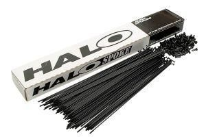 Rayon Halo butted 2.0/1.6/2.0 x 174 mm inox Noir (x100)