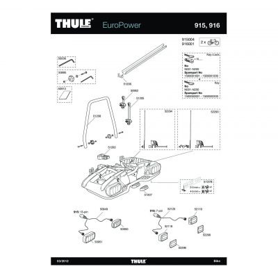 Phare droit Thule Minipoint 7 broches - 52119