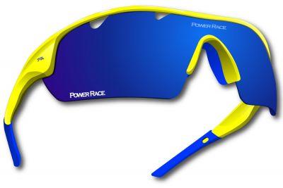 Lunettes Power Race Falcon photochromiques (5 verres) Jaune fluo/Bleu