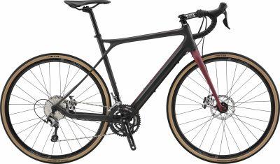 Vélo gravel GT Grade Carbon Elite Noir Satin/Rouge