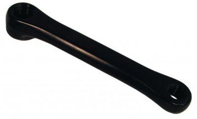 Manivelle gauche L. 170 mm aluminium Noir