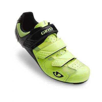 Chaussures route Giro TREBLE II Jaune fluo/Noir mat