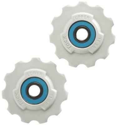 Galets de dérailleur Tacx 11 dents Roulements céramique SRAM Blanc