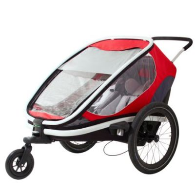 Remorque Hamax Outback 2 in 1 Rouge/Gris/Noir